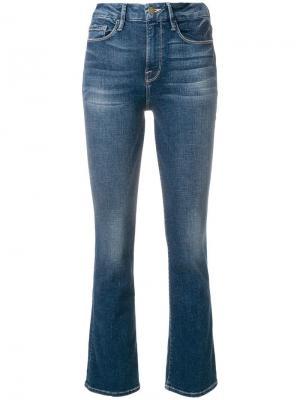 Расклешенные к низу джинсы FRAME. Цвет: синий