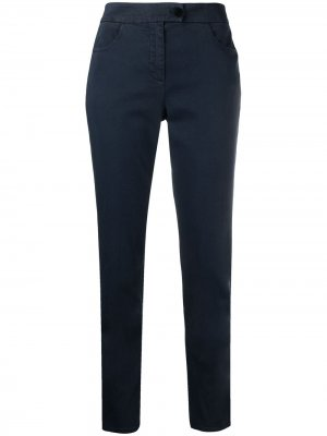 Укороченные брюки чинос Aspesi. Цвет: синий