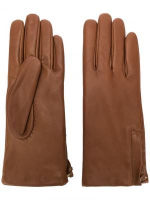 Side zipped gloves Filippa-K. Цвет: коричневый