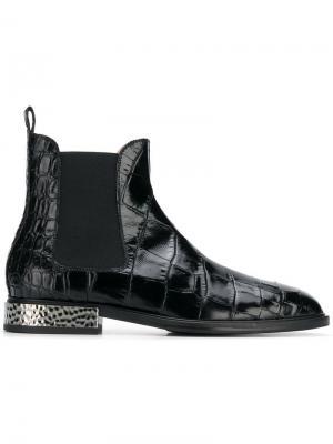 Ботинки с тиснением Alberto Gozzi. Цвет: черный