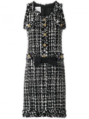 Твидовое платье миди Edward Achour Paris. Цвет: черный