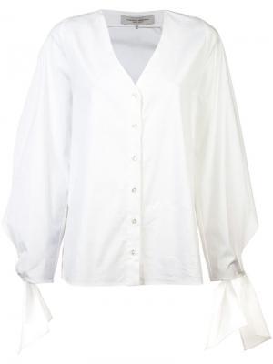 Блузка с завязками на рукавах Carolina Herrera. Цвет: белый