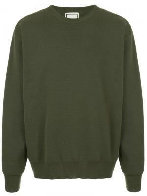Stripe detail sweater Wooyoungmi. Цвет: зеленый