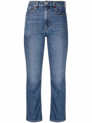 Расклешенные джинсы с завышенной талией Rag & Bone. Цвет: синий