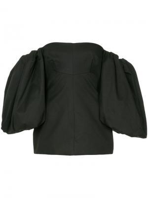 Топ-корсет с открытыми плечами Ellery. Цвет: черный