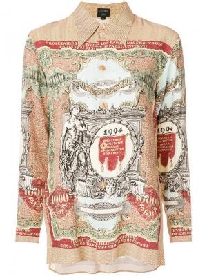 Рубашка с длинным рукавом принтом Jean Paul Gaultier Vintage. Цвет: коричневый