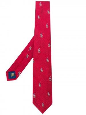 Галстук с логотипом Ralph Lauren Kids. Цвет: красный