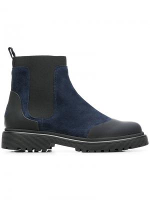 Ботинки-челси Moncler. Цвет: синий