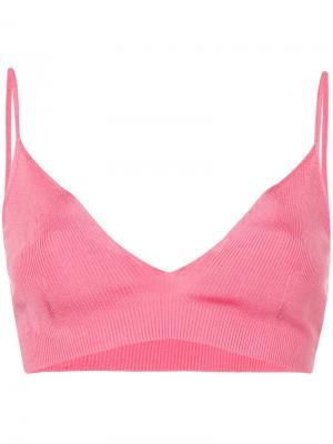 Ребристый бралет Calvin Klein 205W39nyc. Цвет: розовый