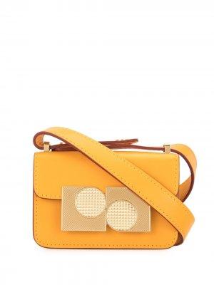 Декорированная сумка-сэтчел Ports 1961. Цвет: желтый