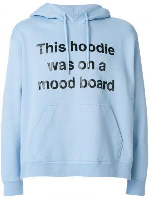 Худи с принтом слогана House Of Holland. Цвет: синий