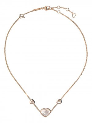 Колье Happy Hearts из розового золота с бриллиантами Chopard. Цвет: розовый