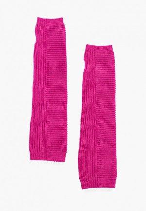 Митенки United Colors of Benetton. Цвет: розовый