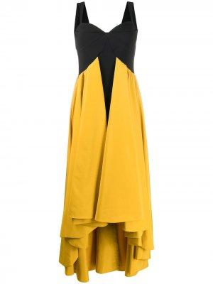 Вечернее платье Baghera в стиле колор-блок Le Petite Robe Di Chiara Boni. Цвет: желтый