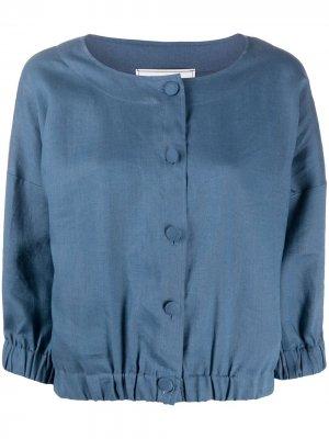 Блузка на пуговицах Société Anonyme. Цвет: синий