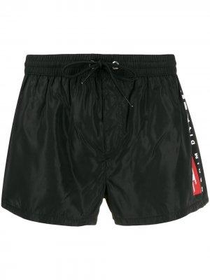 Плавки-шорты с логотипом Diesel. Цвет: черный