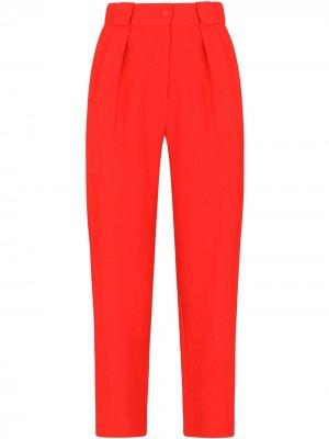 Прямые брюки с завышенной талией Dolce & Gabbana. Цвет: красный
