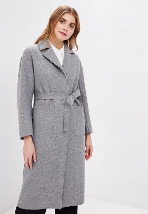 Пальто Zarina. Цвет: серый