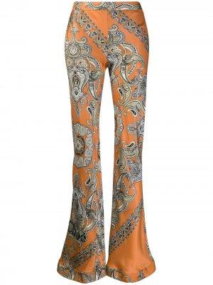 Расклешенные брюки с узором пейсли Chloé. Цвет: оранжевый