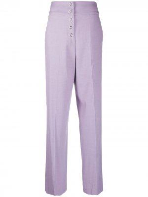 Широкие брюки с завышенной талией Just Cavalli. Цвет: фиолетовый