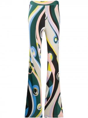 Брюки с принтом Occhi Emilio Pucci. Цвет: зеленый