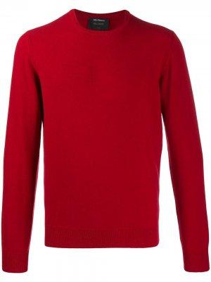 Delloglio кашемировый свитер с круглым вырезом Dell'oglio. Цвет: красный