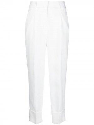 Зауженные брюки кроя слим Peserico. Цвет: белый