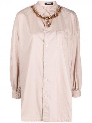 Декорированная рубашка UNDERCOVER. Цвет: розовый