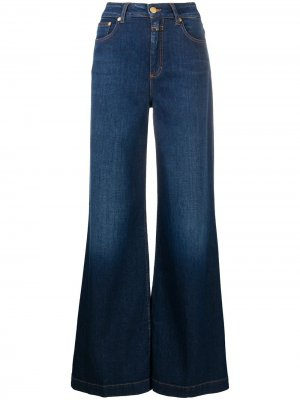Широкие джинсы Glow-up с завышенной талией Closed. Цвет: синий