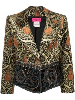 Облегающая куртка Christian Lacroix Vintage. Цвет: коричневый
