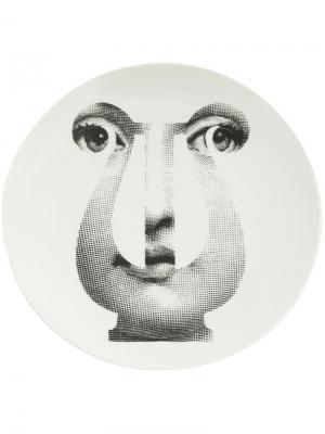 Тарелка с принтом пюпитра Fornasetti. Цвет: белый