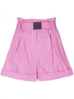 Клетчатые шорты Nº21. Цвет: розовый
