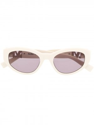 Солнцезащитные очки Berlin II/G в оправе кошачий глаз Max Mara. Цвет: белый