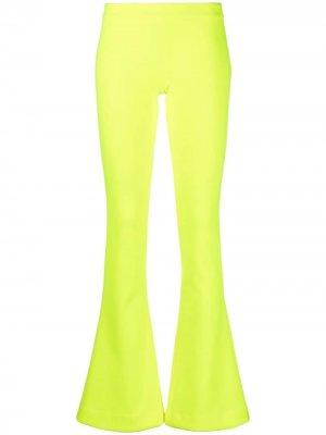 Расклешенные брюки Balmain. Цвет: желтый