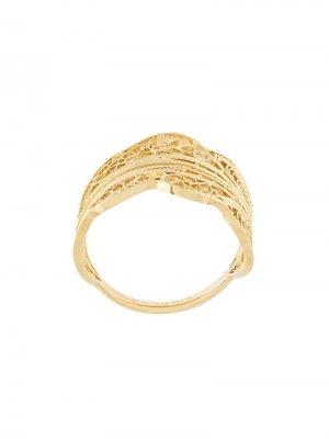Филигранное кольцо Wouters & Hendrix. Цвет: золотистый