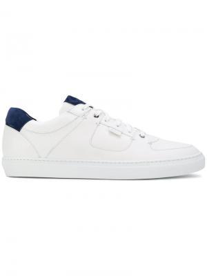 Кроссовки на шнуровке Brioni. Цвет: белый