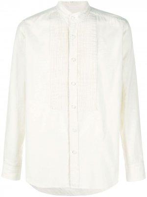 Рубашка с длинными рукавами и манишкой Tagliatore. Цвет: нейтральные цвета