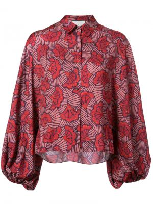Рубашка с цветочным принтом Alexis. Цвет: красный