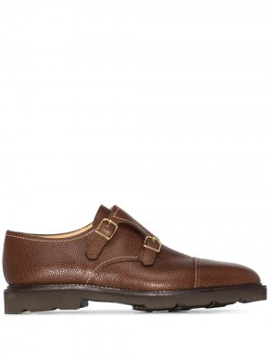 Туфли монки с пряжками John Lobb. Цвет: коричневый