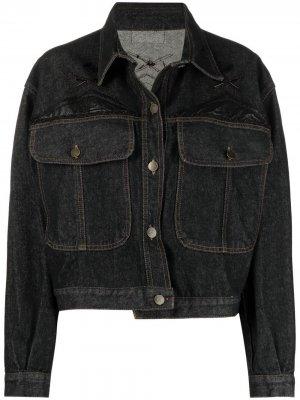 Джинсовая куртка 1990-х годов с вышивкой A.N.G.E.L.O. Vintage Cult. Цвет: синий