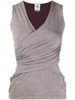 Блузка без рукавов с запахом M Missoni. Цвет: коричневый