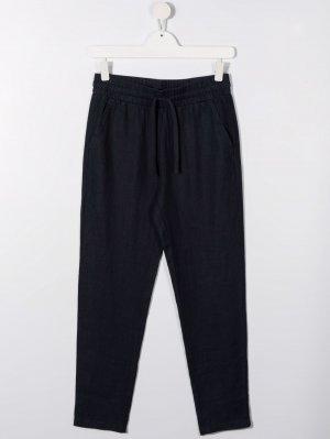 Зауженные брюки с кулиской TRUSSARDI JUNIOR. Цвет: синий