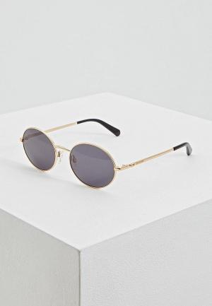 Очки солнцезащитные Love Moschino. Цвет: серый