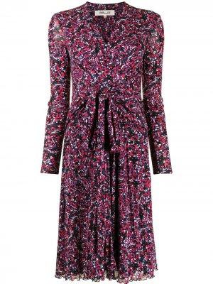Расклешенное платье с цветочным принтом DVF Diane von Furstenberg. Цвет: разноцветный