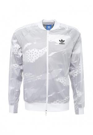 Ветровка adidas Originals. Цвет: серый