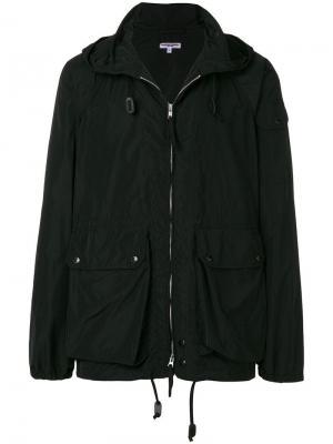 Куртка на молнии с капюшоном Engineered Garments. Цвет: черный