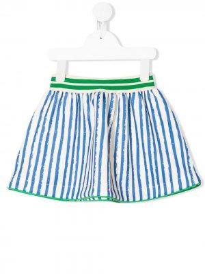 Расклешенная юбка в полоску Noé & Zoë. Цвет: синий