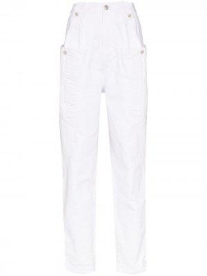 Зауженные брюки Kerris с карманами карго Isabel Marant. Цвет: белый