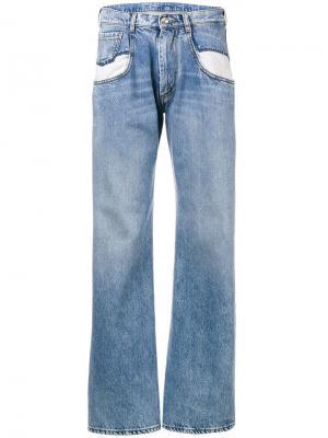 Расклешенные джинсы Maison Margiela. Цвет: синий