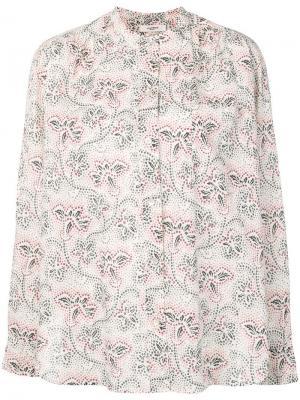 Рубашка с воротником-стойкой и цветочным принтом Isabel Marant Étoile. Цвет: нейтральные цвета